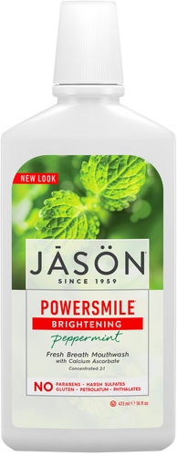 Jason Powersmile Brightening Peppermint All Natural Mouthwash