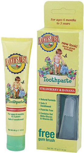 "Jason Earth""¢ Best Strawberry & Banana Toothpaste"