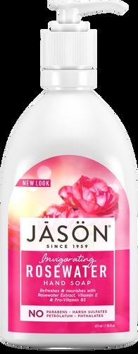 Jason Invigorating Rosewater Pure Natural Hand Soap