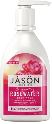 Jason Invigorating Rosewater Pure Natural Body Wash