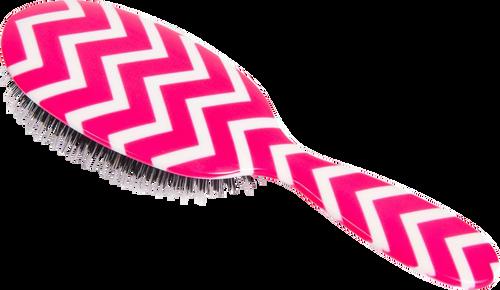Rock & Ruddle Pink Chevron Hairbrush
