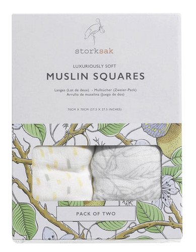 Storksak Muslin Squares 2 pack - Mixed Print