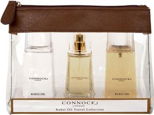 Connock London Kukui Oil Travel Collection Gift Set
