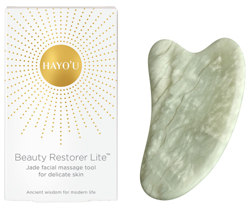 HAYO'U Beauty Restorer Lite - Jade Facial Massage Tool for Delicate Skin