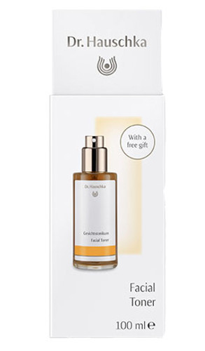 Dr. Hauschka Facial Toner with Eye Make-Up Remover Sachet and Cosmetic Sponge