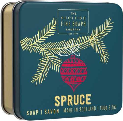 Scottish Fine Soaps Spruce In A Tin
