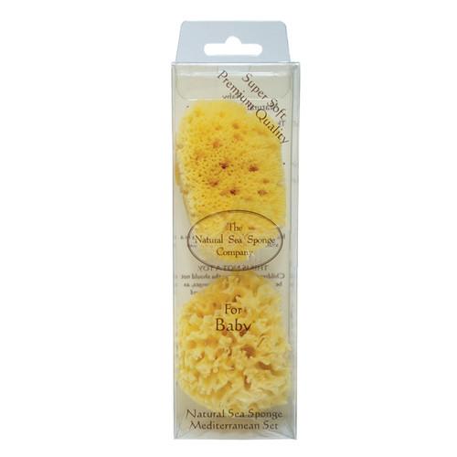 Natural Bath Sponge Baby Sea Sponge Set