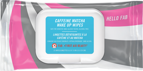 First Aid Beauty Hello FAB Caffeine Matcha Wake Up Wipes