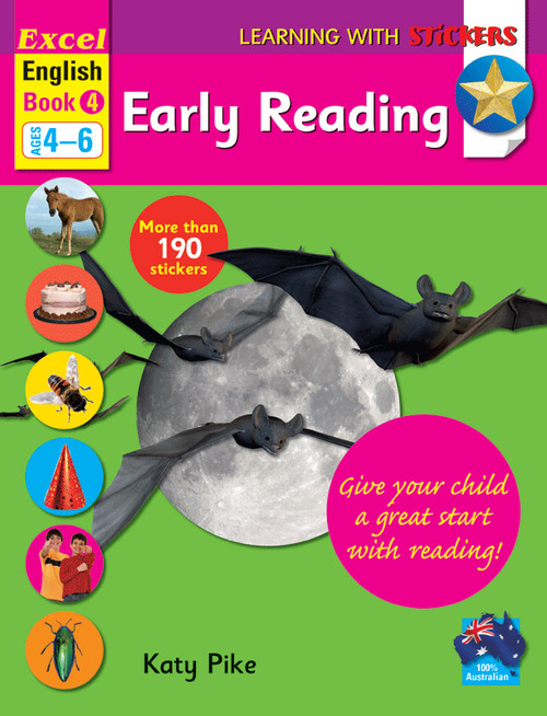 Excel Learning with Stickers - English Book 4 School Skills