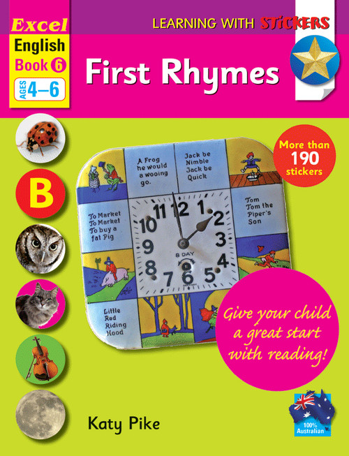 Excel Learning with Stickers - English Book 6 First Rhymes