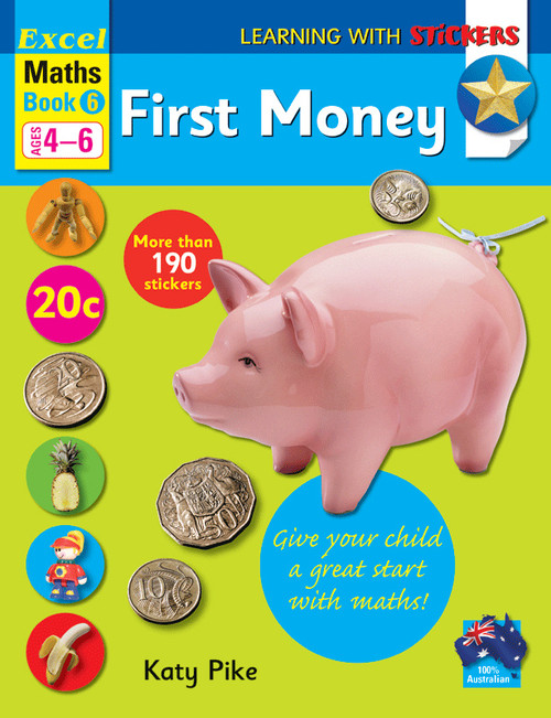 Excel Learning With Stickers - Maths Book 6 First Money