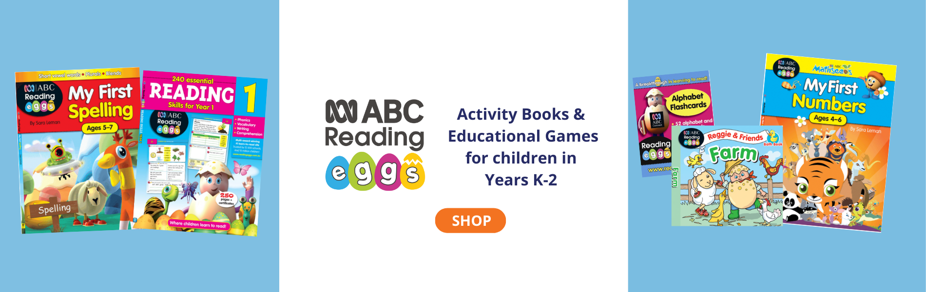 ABC Reading Eggs Activity Books and Educational Games for children in Years K-2
