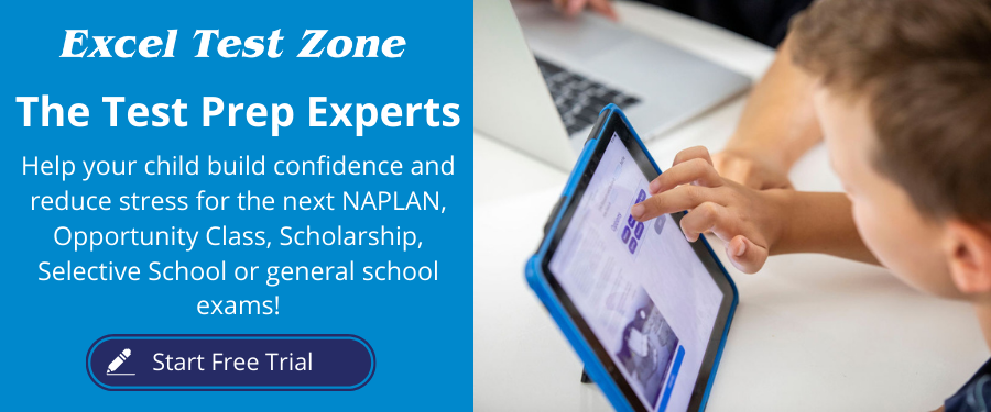 Succeed in NAPLAN, Opportunity Class, Scholarship and Selective Schools Tests with Excel Test Zone's online practice tests.
