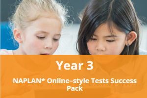 Year 3 NAPLAN* Online-style Tests Success Pack