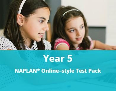 Year 5 NAPLAN* Online-style Test Pack