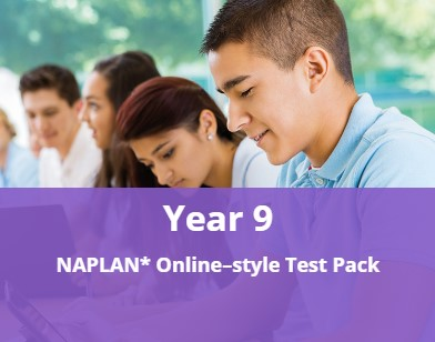 Year 9 NAPLAN* Online-style Test Pack