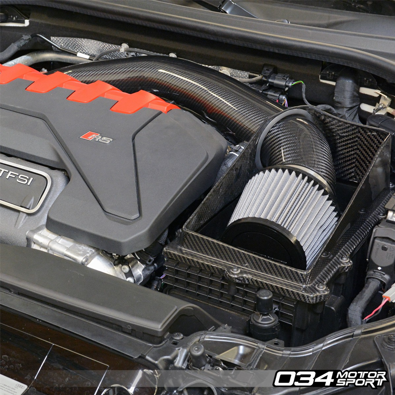X34 Carbon Fiber Open-Top Cold Air Intake System - TTRS & RS3 2.5 TFSI EVO