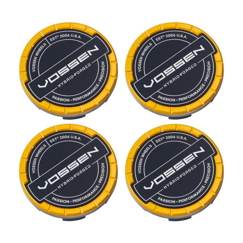 Vossen Hybrid Forged Billet Sport Cap Set For VF & HF Series Wheels (Canary Yellow)