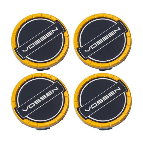 Vossen Classic Billet Sport Cap Set For CV/VF/HF Series Wheels (Canary Yellow)