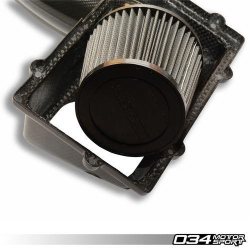 X34 Carbon Fiber MQB Open-Top Cold Air Intake System | Audi A3/S3/TT/TTS 8V/8S, MKVII VW Golf/GTI/R, GLI 1.8T/2.0T Gen3