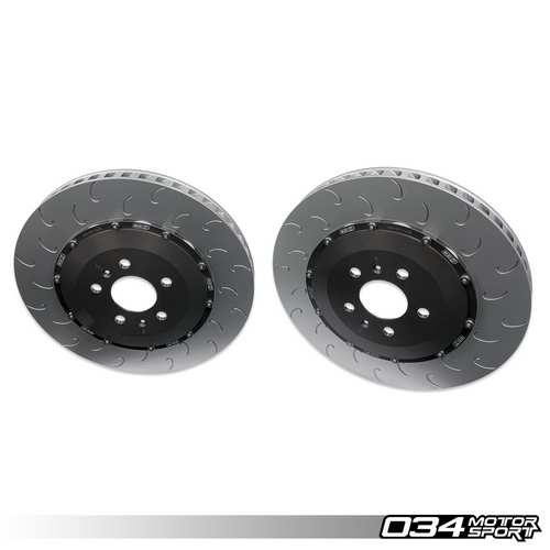 2-Piece Floating Rear Brake Rotor Upgrade Kit For Audi R8 Gen 1 & Gen 1.5