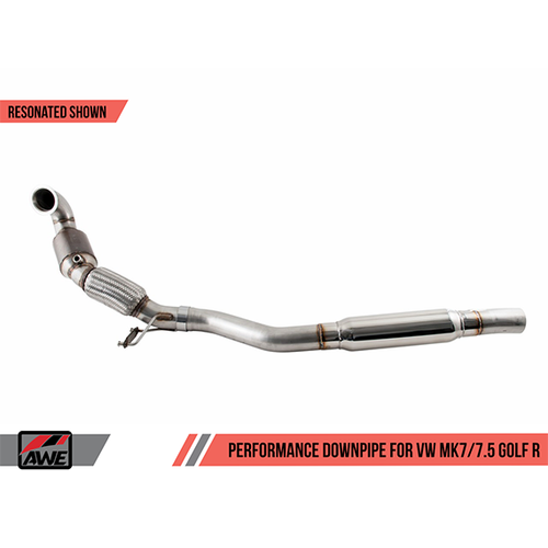 AWE Resonated Performance Downpipe for MQB AWD