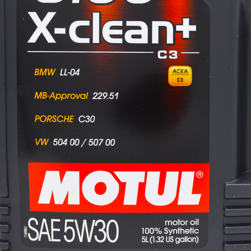 Motul 5W-30 Full Synthetic 8100 X-Clean+ Engine Oil - 5L