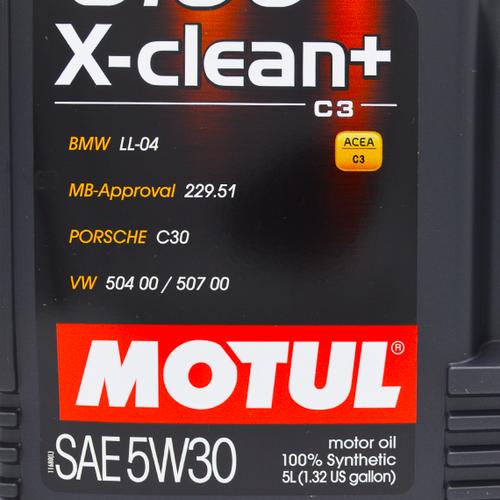 Motul 5W-30 Full Synthetic 8100 X-Clean+ Engine Oil - 5L