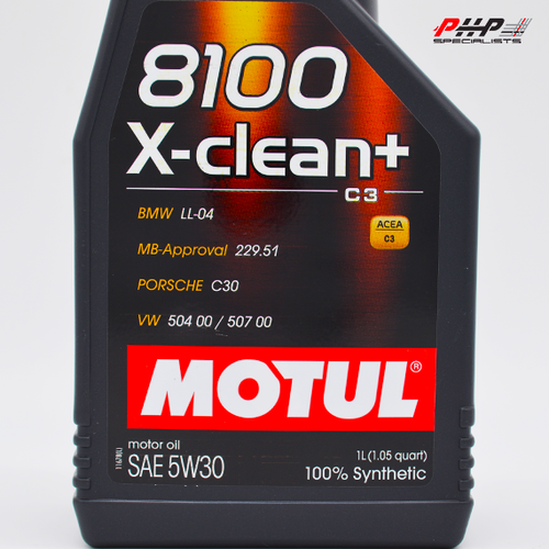 Motul 5W-30 8100 X-Clean+ Engine Oil - 1L