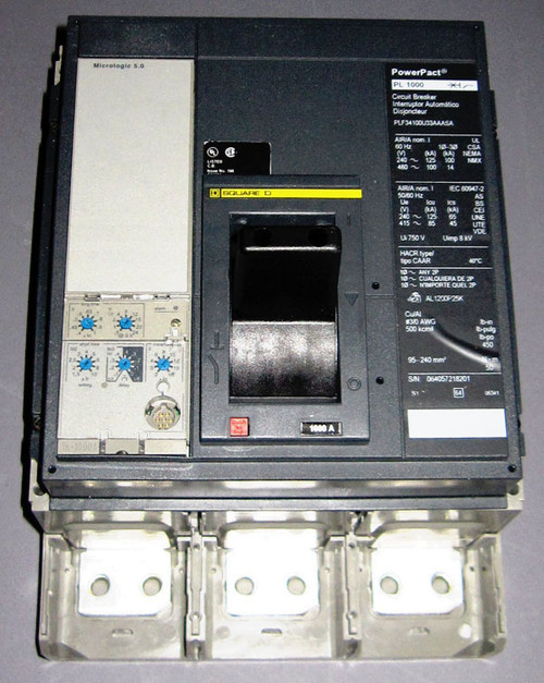 PLF34100U33AAASA - 1000A 480V Circuit Breaker (Square D / Schneider Electric) - Equivalent to PLL34100 without lugs