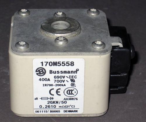 170M5558 - Fuse, 400A, 690/700V, 2GKN/50 (Bussmann)
