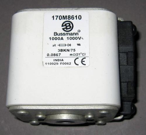 170M8610 - Fuse, 1000A, 1000V, 3BKN/75 (Bussmann)