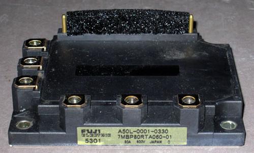 A50L-0001-0330 (Fanuc) - Also: 7MBP80RTA060-01 (Fuji) - IGBT-IPM - Used