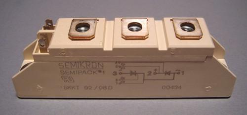 SKKT92/08D dual SCR / Thyristor module, 800V 92A (Semikron)