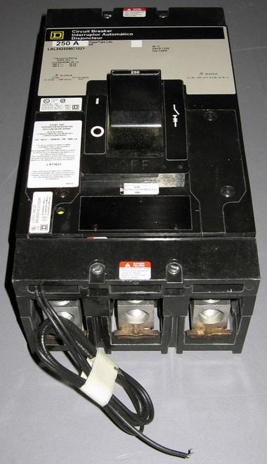 LAL34250MC-1021 - 250A 480V 3P Circuit Breaker with LA11021 Shunt Trip (Square D)