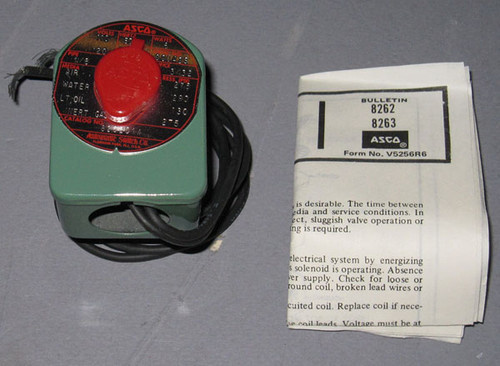 8262C14 - Gas/Fluid Valve, 275PSI, 110VAC Coil (Automatic Switch Co.)