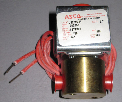 U8262C14 - Gas/Fluid Valve, 150PSI, 24VDC Coil (Automated Switch Co.)