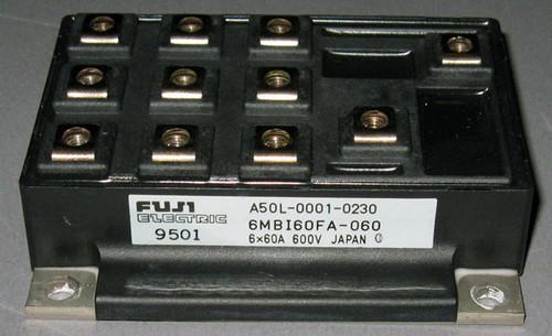 A50L-0001-0230 (Fanuc) - Also: 6MBI60FA-060 (Fuji) - Transistor - Used