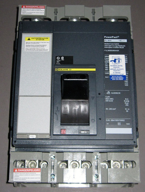 PJL36000S80AASK - 600V 800A Automatic Molded Case Switch (Square D / Schneider Electric)