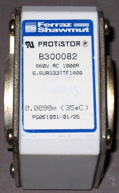 6,6URD33TTF1000 - B300082 - 660VAC 1000A Protistor Fuse (Ferraz Shawmut)