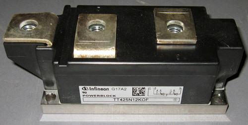 TT425N12KOF - 1200V 425A dual SCR/Thyristor (Infineon, formerly Eupec)
