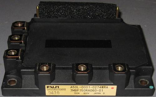 A50L-0001-0274#RA (Fanuc) - Also: 7MBP150RA060-01 (Fuji) - IGBT-IPM - Used