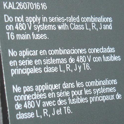 KAL260701616 - 70A 600VAC/250VDC 2P Circuit Breaker (Square D) with Undervoltage Trip