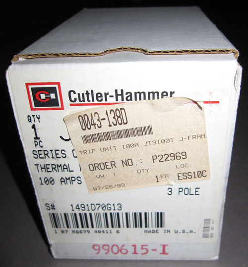 JT3100T - Thermal Magnetic Trip Unit (Cutler Hammer)