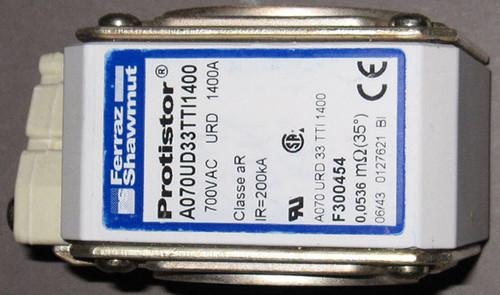 A070URD33TTI1400 / F300454 / A070UD33TTI1400 - 1400A 700VAC Fuse (Ferraz Shawmut)