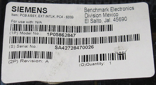 05862847 Rev. A - EXT INTLK PC3-S33B Circuit Board (Siemens)