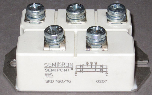 SKD160/16 - 1600V 160A Bridge Rectifier (Semikron) - Used
