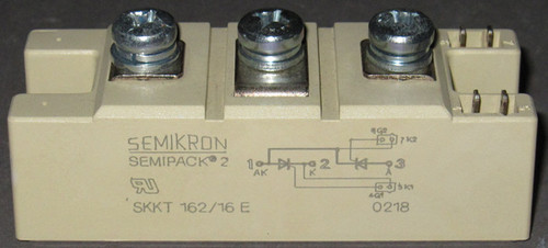SKKT162/16E - 1600V 160A Dual SCR (Semikron) - Used