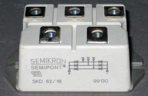 SKD62/18 - 1800V 60A Bridge Rectifier (Semikron)