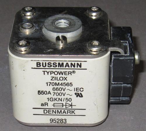 170M4565 - 550A 660/700VAC Fuse (Bussmann) - Used